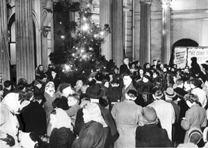 Crowds for a carol service